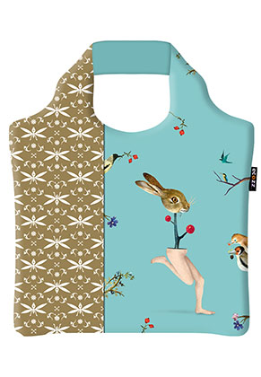 www.misstella.com - Ecozz eco shopper tote bag Rabbit (Jheronimus Bosch)