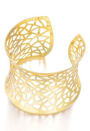www.misstella.nl - Metalen cuff armband 17cm