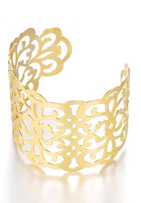 www.misstella.fr - Bracelet manchette en métal 17,5cm