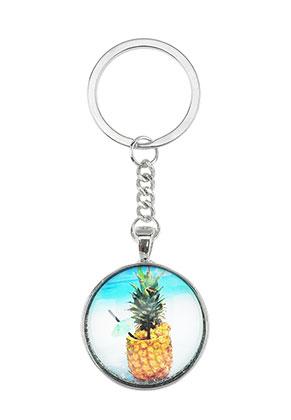 www.misstella.com - Key fob with pineapple print 94x33,5mm