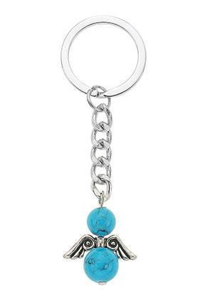 www.misstella.com - Metal key fob angel 82x25mm