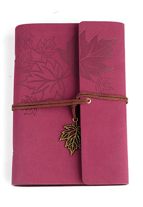 www.misstella.com - Notebook decorated with leaves 18,5x12,5cm