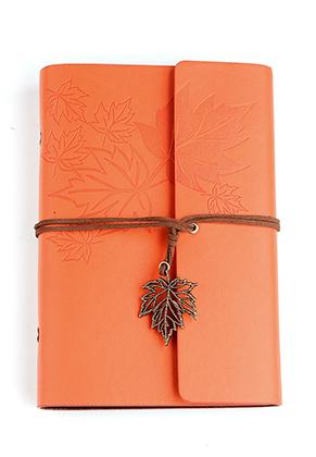 www.misstella.fr - Carnet de notes décoré avec feuilles 18,5x12,5cm