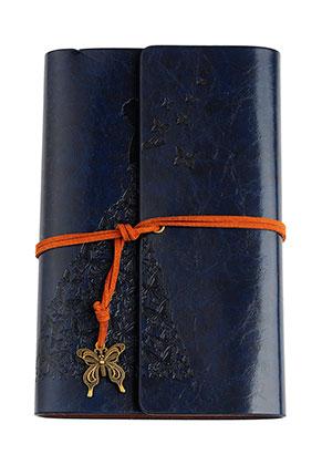 www.misstella.fr - Carnet de notes avec dame et papillons 18,5x12,5cm