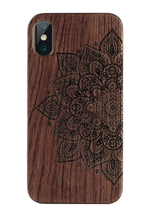 www.misstella.com - Wooden back cover phone case for iPhone X 14,6x7,3x1,2cm
