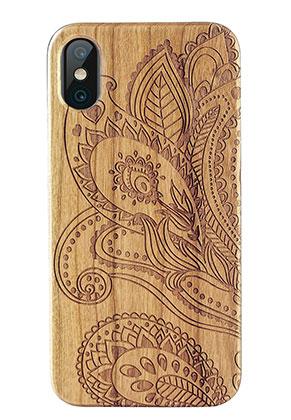 www.misstella.nl - Houten back cover telefoonhoesje voor iPhone X 14,6x7,3x1,2cm