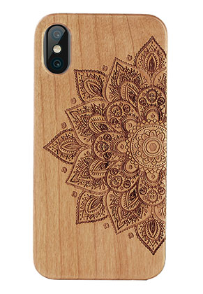 www.misstella.fr - Housse pour portable back cover iPhone X en bois 14,6x7,3x1,2cm