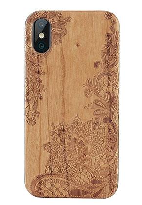 www.misstella.nl - Houten telefoonhoesje voor iPhone X 14,6x7,3x1,2cm