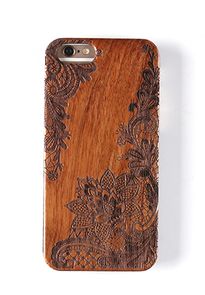 www.misstella.es - Funda para móvil back cover iPhone 7 / iPhone 8 de madera 14x6,9x1cm