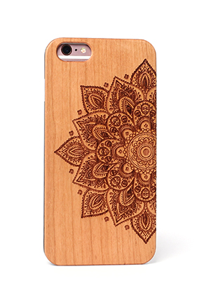 www.misstella.com - Wooden back cover phone case for iPhone 7 / iPhone 8 14x6,9x1cm