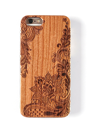 www.misstella.es - Funda para móvil back cover iPhone 7 / iPhone 8 de madera 14x6,9x1cm