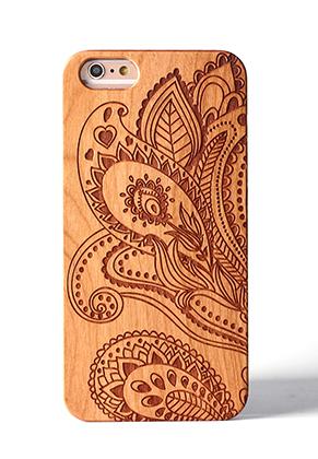 www.misstella.fr - Housse pour portable back cover iPhone 7 / iPhone 8 en bois 14x6,9x1cm