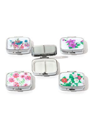 www.misstella.fr - Mélange de boîtes de rangement avec 3 sections fleurs 56,5x47mm