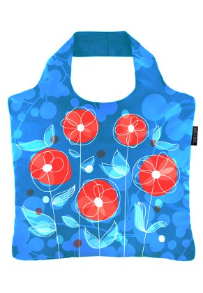 www.misstella.com - Ecozz eco shopper tote bag Happy Poppy