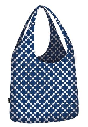 www.misstella.nl - Ecozz ecoshopper Little Big Bag Squares Blue