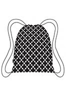 www.misstella.nl - Ecozz Easy Travel opvouwbare rugzak Squares Black - E00344