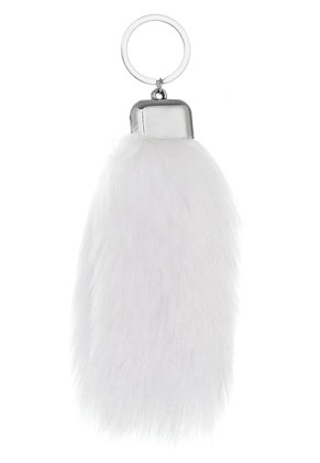 www.misstella.com - Key fob with imitation fox tail