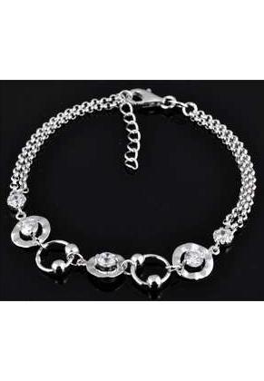 www.misstella.nl - 925 Zilveren armband met zirkonia 16,5-19cm