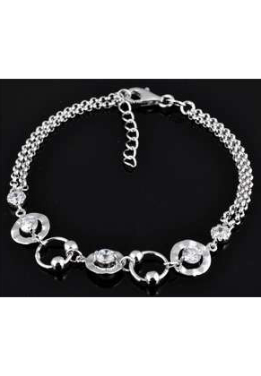 www.misstella.de - 925er Silber Armband mit Zirkonia 16,5-19cm