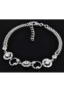 www.misstella.com - 925 Silver bracelet with cubic zirconia 16,5-19cm - E01213