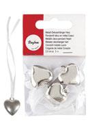 www.misstella.com - Rayher metal look deco pendant heart 11x2,3cm - E02132