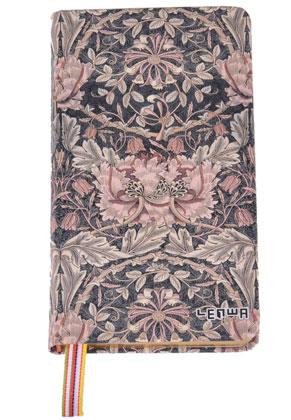 www.misstella.nl - Notitieboekje met bloemen en goudkleurige versiering