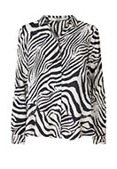www.misstella.com - Blouse with zebra print - F02963