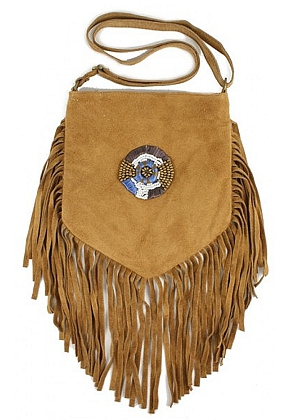 www.misstella.com - Suede cross body bag with fringes