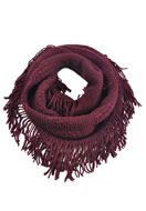 www.misstella.com - Fringe tunnel scarf - F03502