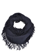 www.misstella.com - Tunnel scarf with fringes - F03508