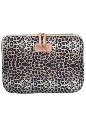 www.misstella.com - Laptop sleeve 13,3 inch with leopard print