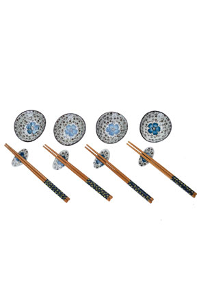 www.misstella.com - Sushi set contains dishes, chopsticks and chopstick rest