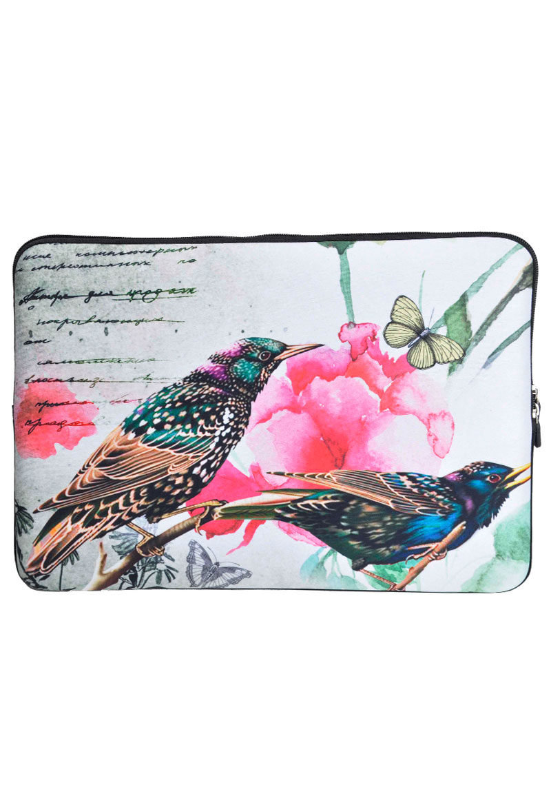 etui pour ordinateur portable 13 3 pouces avec oiseaux. Black Bedroom Furniture Sets. Home Design Ideas
