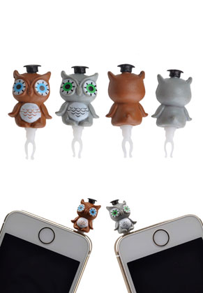 www.misstella.com - Anti-dust plug owl
