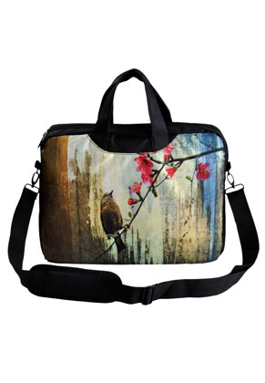www.misstella.de - Laptoptasche 15 Zoll mit Vögel