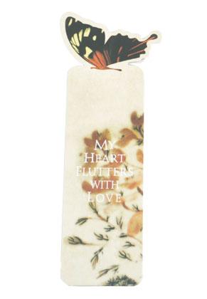 www.misstella.com - Book mark with butterfly