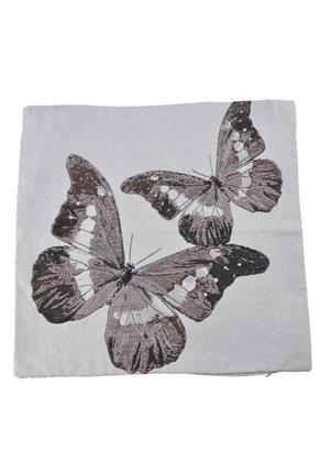 www.misstella.fr - Housse de coussin avec papillons 45x45cm