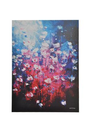 www.misstella.fr - Carnet de croquis et notes avec fleurs