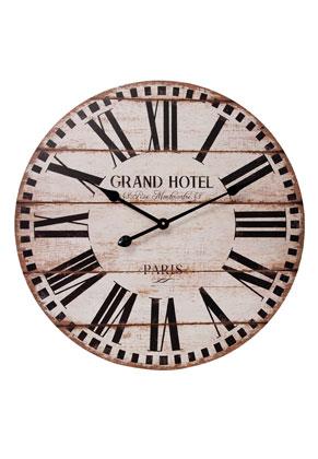 www.misstella.de - Clayre & Eef Uhr rund 60x5cm beige/schwarz