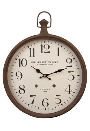 www.misstella.fr - Clayre & Eef horloge- Ø 40 cm - William Sutton ronde 34x4cm