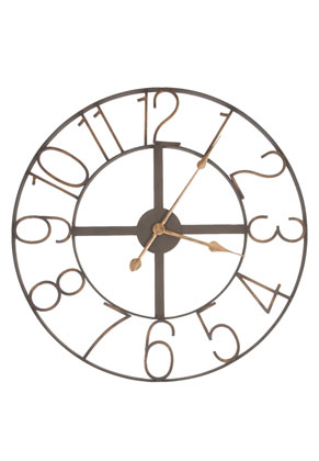 www.misstella.com - Clayre & Eef clock round - Ø 60 cm - 60x2cm