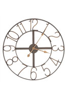 www.misstella.nl - Clayre & Eef klok rond - Ø 60 cm - 60x2cm - F05395