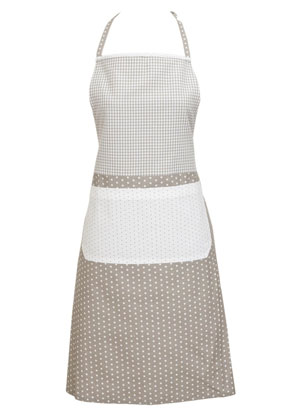 www.misstella.com - Clayre & Eef kitchen apron/cooking apron 85x70cm