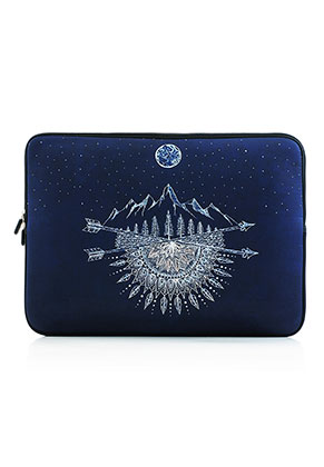 Laptop sleeve 15,4 - 15,6 inch with bohemian print