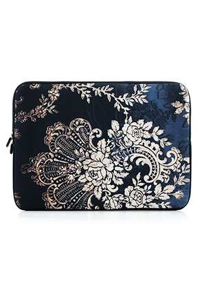 www.misstella.com - Laptop sleeve 14 inch with baroque print