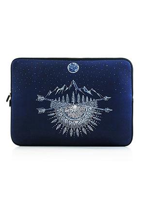 www.misstella.nl - Laptop sleeve 15,6 inch - 16 inch met bohemian print