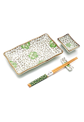 www.misstella.com - Sushi set contains plate, dish, chopsticks and chopstick rest