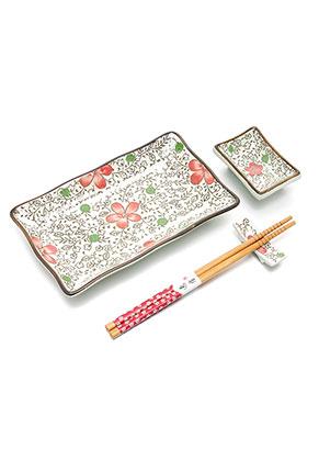 www.misstella.com - Sushi set contains plate, dish, chopsticks and chopstick rest