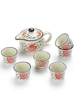 www.misstella.com - Six piece ceramic Kung fu tea set