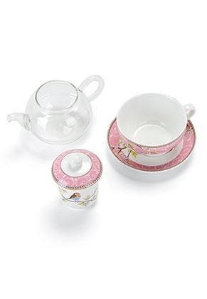 www.misstella.es - Juego de té para una persona con pájaros